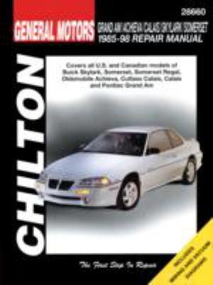 Chilton's General Motors Grand AM/Achieva/Calais/Skylark/Somerset 1985-98 repair manual.