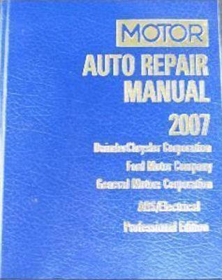Motor auto repair manual 2007;  DaimlerChrysler Corporation, Ford Motor Company and General Motors Corporation.