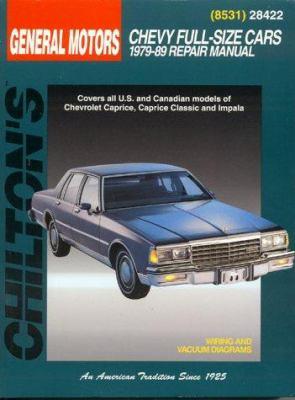Chilton's General Motors Chevy full-size cars, 1979-89 repair manual.