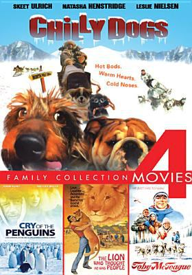 Family collection 4 movies  : Chilly dogs ; Cry of the penguins ; The lion who thought he was  people ; Toby McTeague.