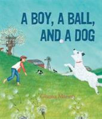 A boy, a ball, and a dog