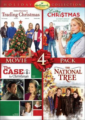 Hallmark Channel holiday collection movie 4 pack. Trading Christmas, Lucky Christmas, The case for Christmas and The national tree