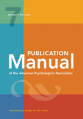 Publication manual of the American Psychological Association : the official guide to APA style.