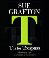 T is for trespass (AUDIOBOOK)