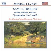 Symphonies nos. 1 & 2 ; Essay : for orchestra ; Overture to The school for scandal