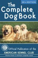 The complete dog book.