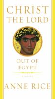 Christ the Lord : out of Egypt : a novel