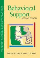 Behavioral support