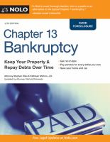 Chapter 13 bankruptcy : keep your property & repay debts over time