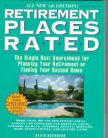 Retirement places rated : all you need to plan your retirement or select your second home