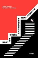 How to write proposals that produce