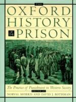 Oxford history of the prison : the practice of punishment in western society
