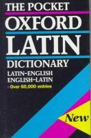 Pocket Oxford Latin dictionary