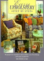Easy Upholstery Step by Step