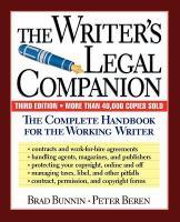 The Writer's legal companion