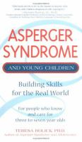 Asperger syndrome and young children : building skills for the real world