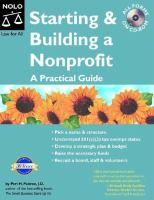 Starting & building a nonprofit : a practical guide