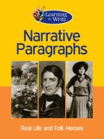 Narrative paragraphs