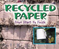 Recycled paper : from start to finish