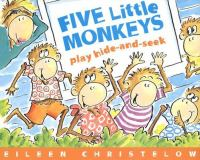 Five little monkeys play hide-and-seek