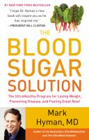 The blood sugar solution : the ultrahealthy program for losing weight, preventing disease, and feeling great now! / Mark Hyman.