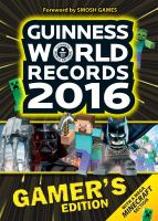 Guinness world records. Gamer's edition. 2016.