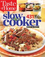 Taste of Home slow cooker cookbook : 431 hot hearty classics.