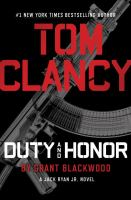 Tom Clancy duty and honor (AUDIOBOOK)