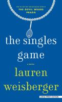 The singles game (LARGE PRINT)