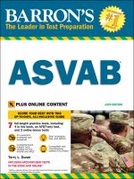 Barron's ASVAB : Armed Services Vocational Aptitude Battery book + online
