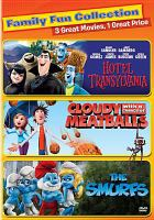 Family fun collection : Hotel Transylvania ; Cloudy with a chance of meatballs ; The Smurfs