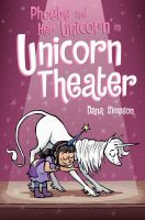 Phoebe and her unicorn in unicorn theater.