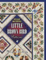 Applique masterpiece. Little brown bird patterns