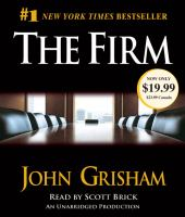 The firm : [a novel] (AUDIOBOOK)