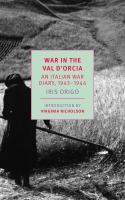 War in Val d'Orcia : an Italian war diary, 1943-1944
