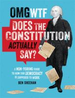 OMG WTF does the Constitution actually say? : a non-boring guide to how our democracy is supposed to work