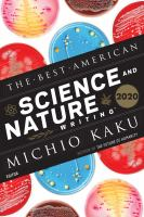 The best American Science and Nature Writing 2020