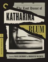 The lost honor of Katharina Blum = Verlorene Ehre der Katharina Blum [Blu-ray]