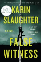 False witness : a novel (LARGE PRINT)